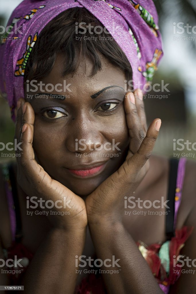 Africain black woman royalty-free stock photo