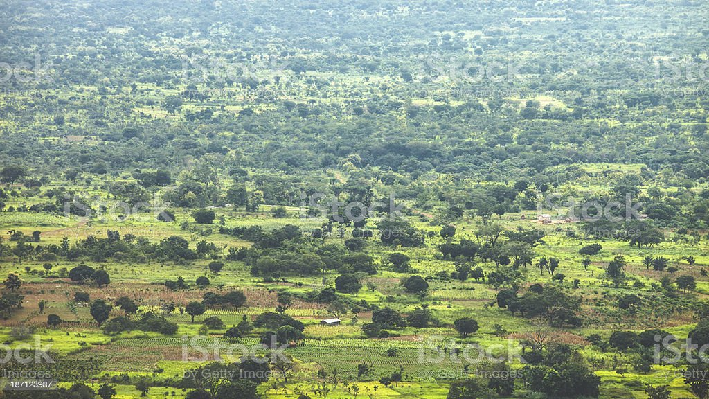 African agricultural lands. stock photo