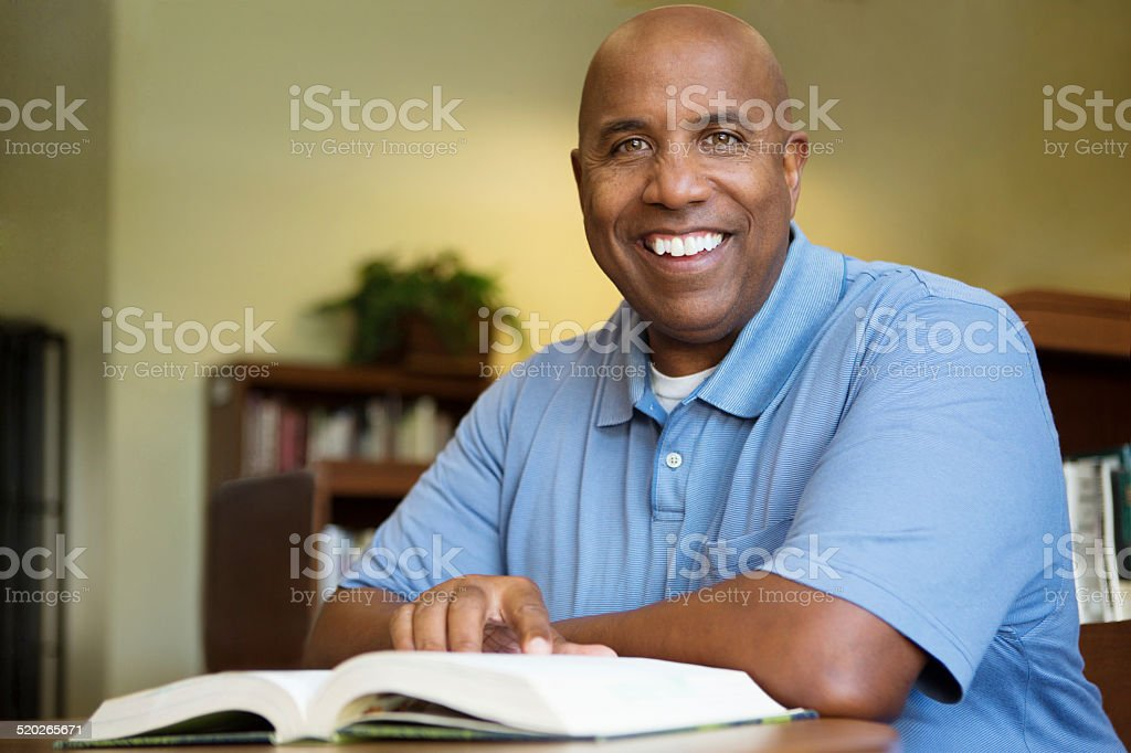 African American adult student stock photo