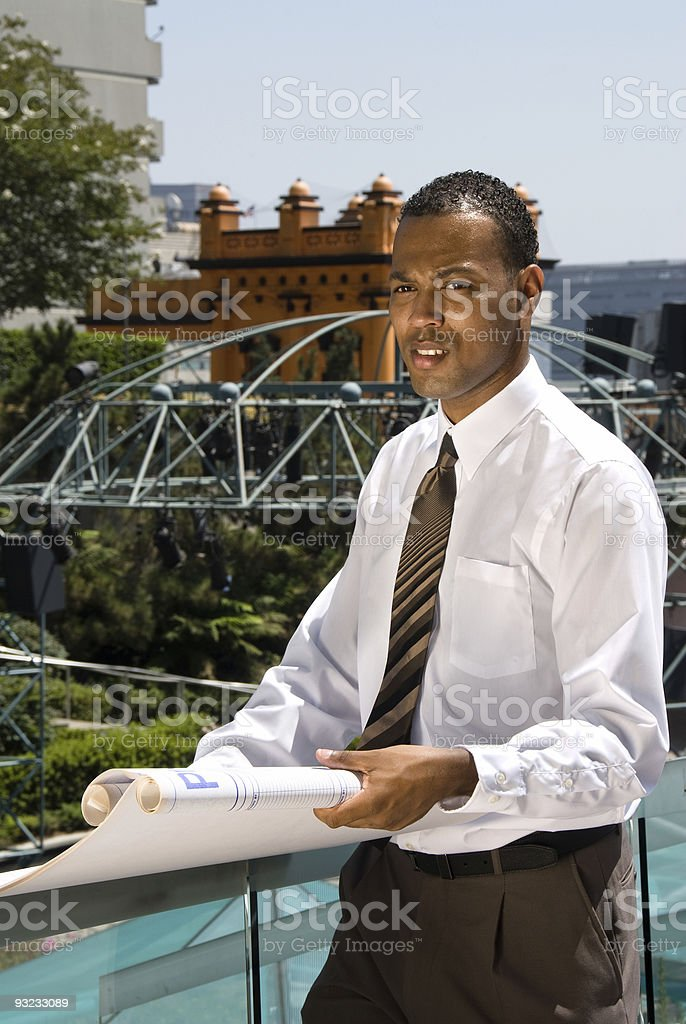 African American Architect royalty-free stock photo