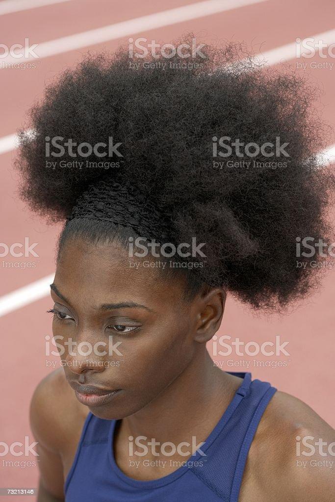 Atleta afroamericano foto de stock libre de derechos
