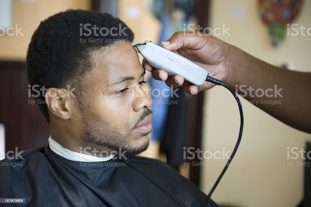 African American Barber Shop Shave And Haircut Stock Photo More