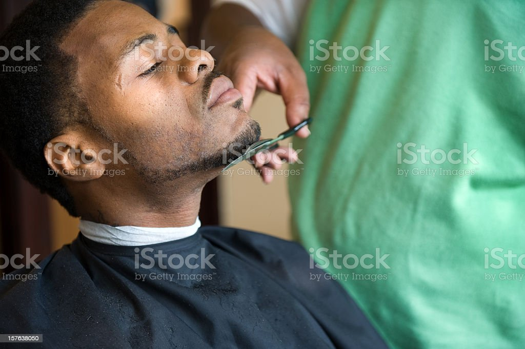 African American Barber Shop Trim royalty-free stock photo