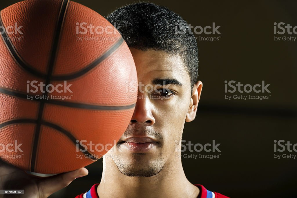 African American basketball player. royalty-free stock photo