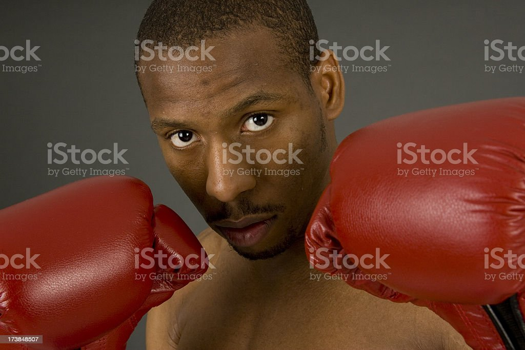 African American Boxers Eyes royalty-free stock photo
