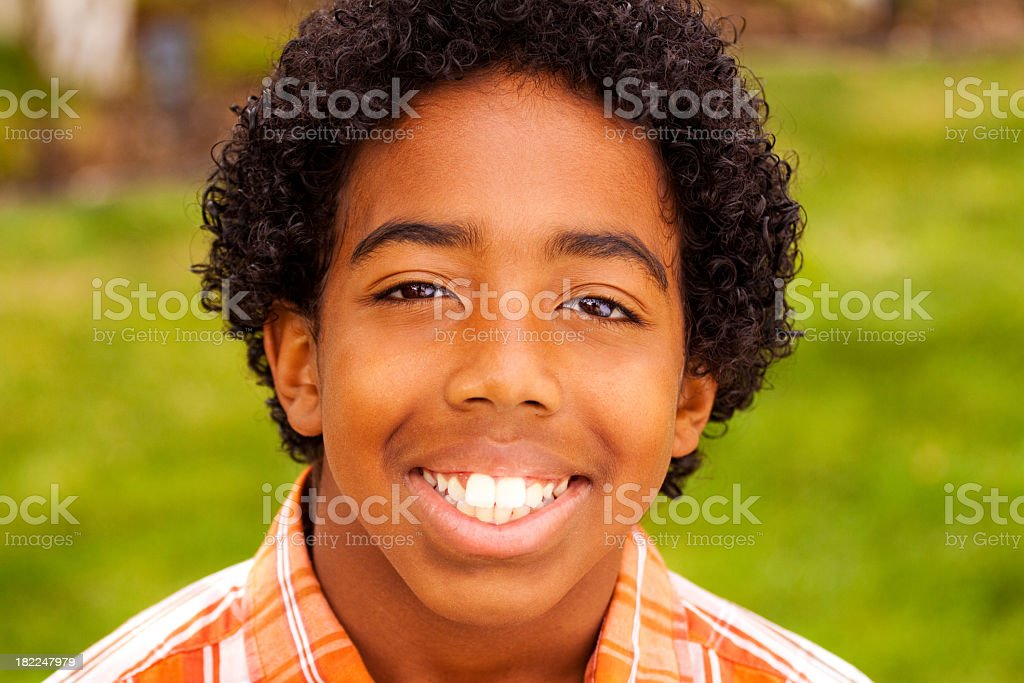 African American Boy Smiling royalty-free stock photo