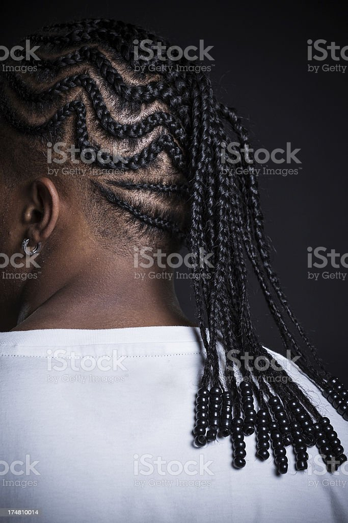 African American braids. stock photo