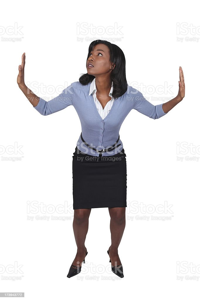 African American Business Woman Trapped royalty-free stock photo