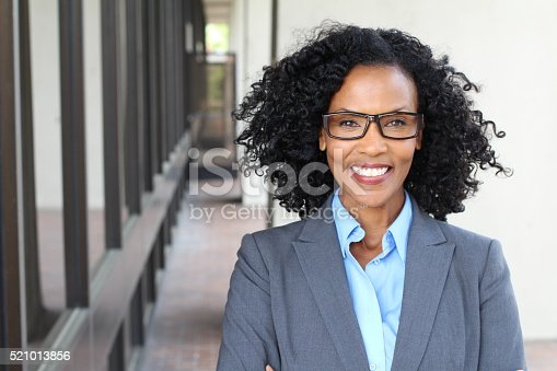 istock African American business woman wearing glasses 521013856