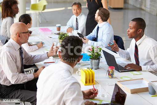 istock African American Businessman At Meeting With Colleagues 505410882
