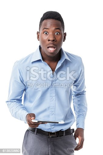 istock African American businessman with digital tablet 613520880