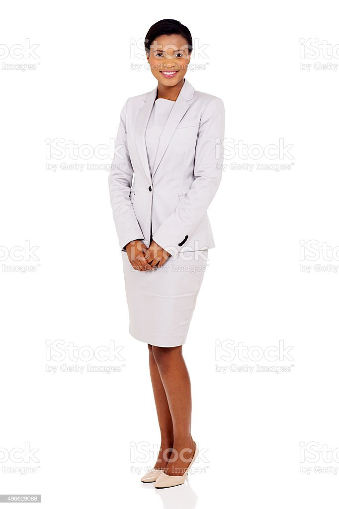 african american businesswoman in a suit stock photo