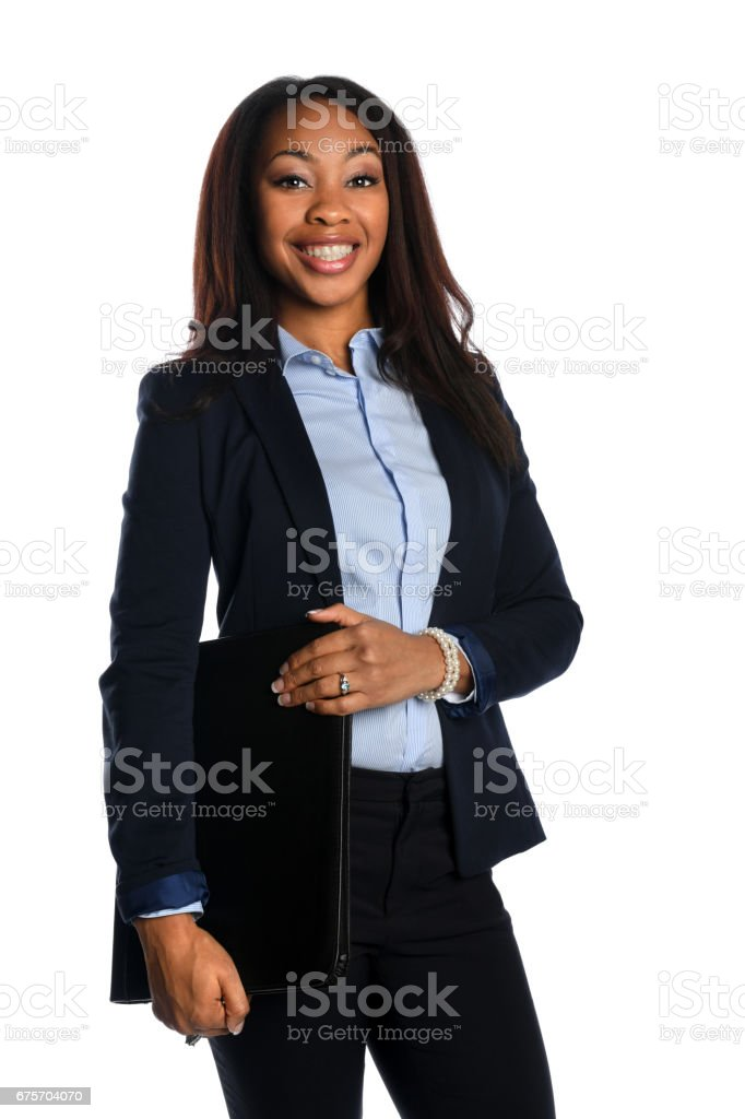 African american Businesswoman Smiling royalty-free stock photo