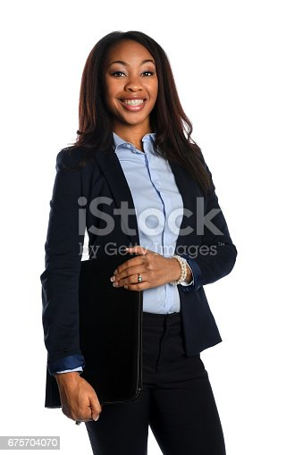 istock African american Businesswoman Smiling 675704070
