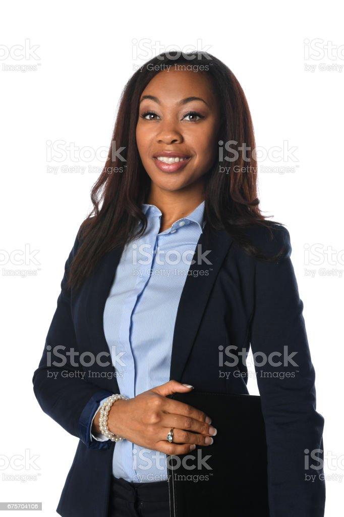 African American Businesswoman Smiling 免版稅 stock photo
