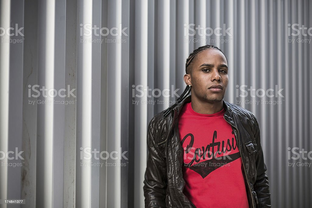 African American casual model. royalty-free stock photo