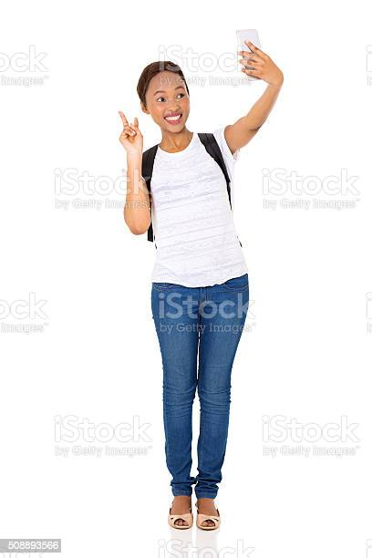 African american college girl taking a self portrait picture id508893566?b=1&k=6&m=508893566&s=612x612&h=6dabfcuqyctfte5rs0vkv r uju3rfybge2npq462m0=