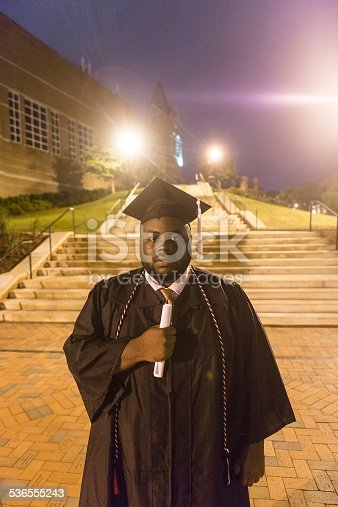 istock African American college graduate 536555243