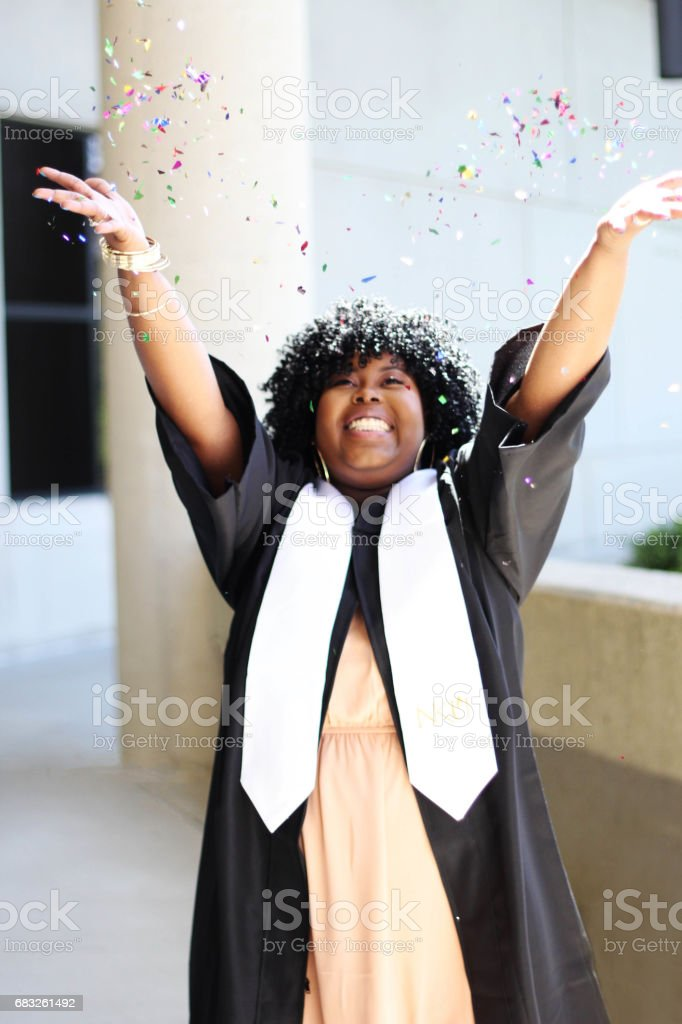African American college graduate royalty-free stock photo