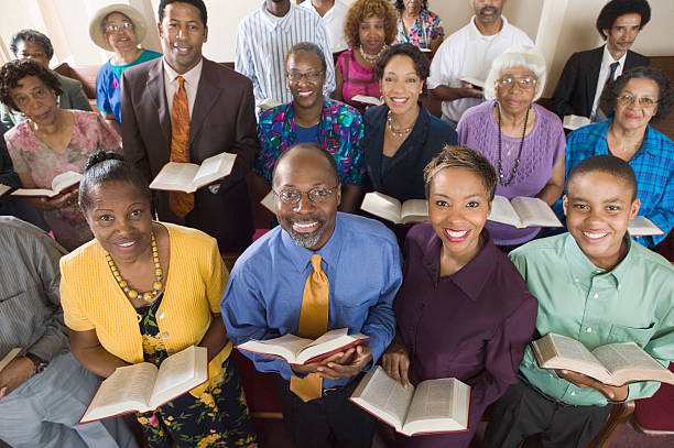 african american congregation - african american church stock pictures, royalty-free photos & images