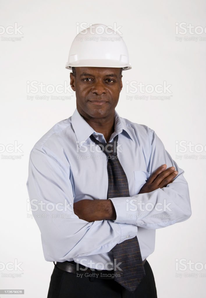 African American Construction Foreman royalty-free stock photo