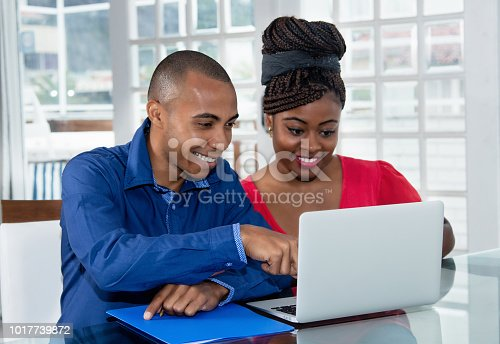 istock African american couple at computer 1017739872