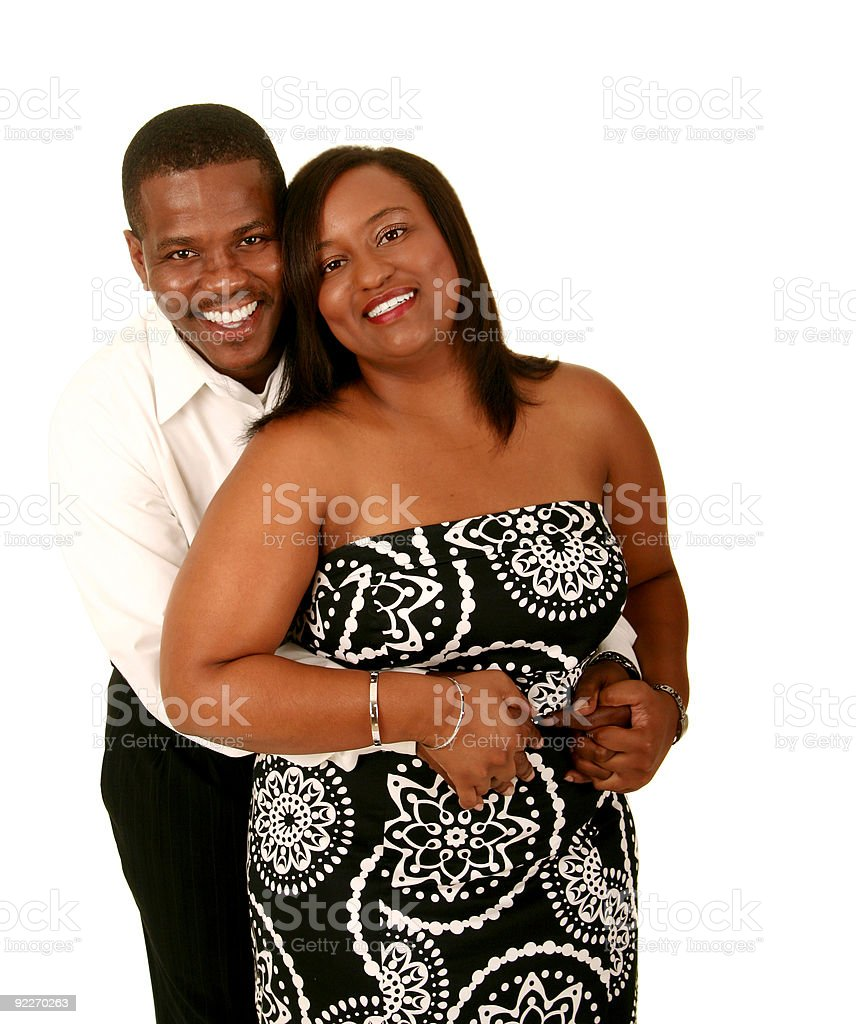 African American Couple Hugging 3 royalty-free stock photo