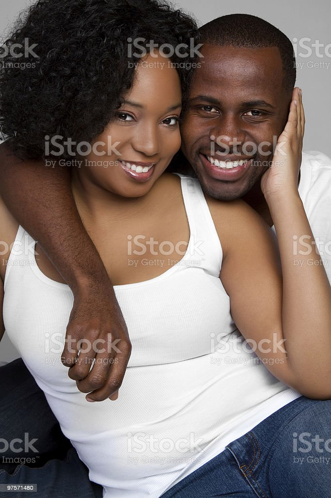 African American Couple royalty-free stock photo