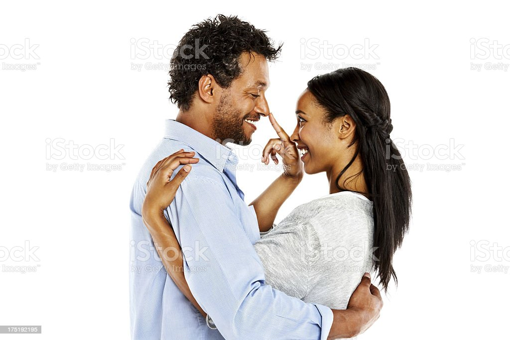 African American couple spending romantic time together royalty-free stock photo