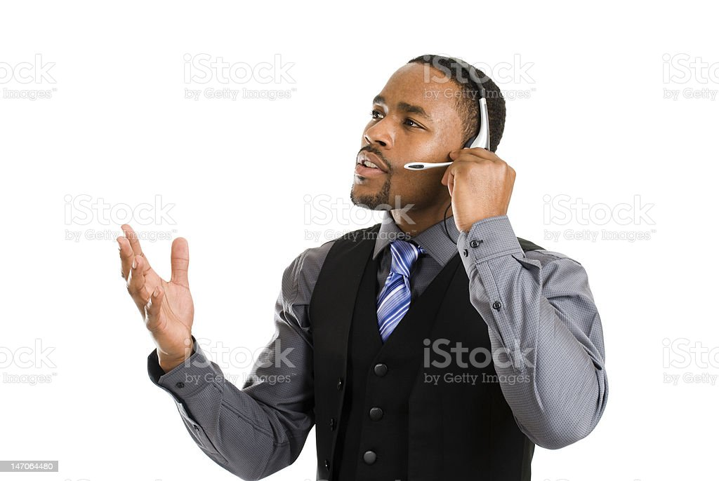 African american customer support operator royalty-free stock photo