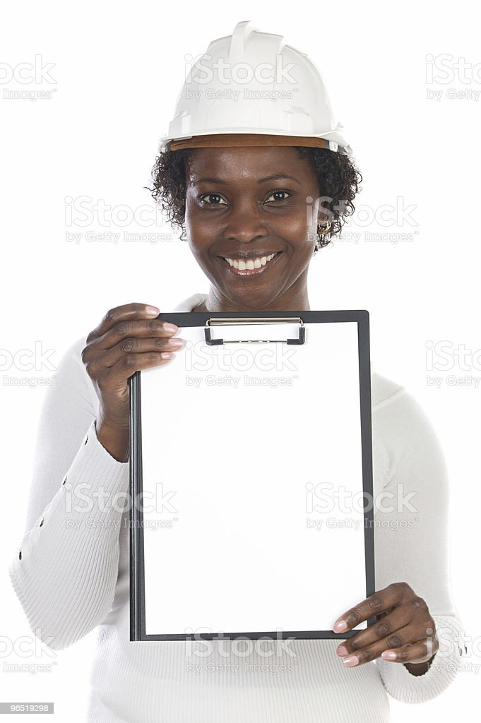 African american engineer woman royalty-free stock photo