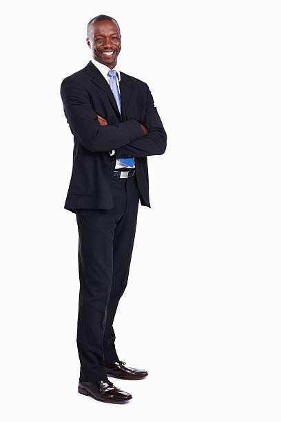 African American executive Lächeln – Foto