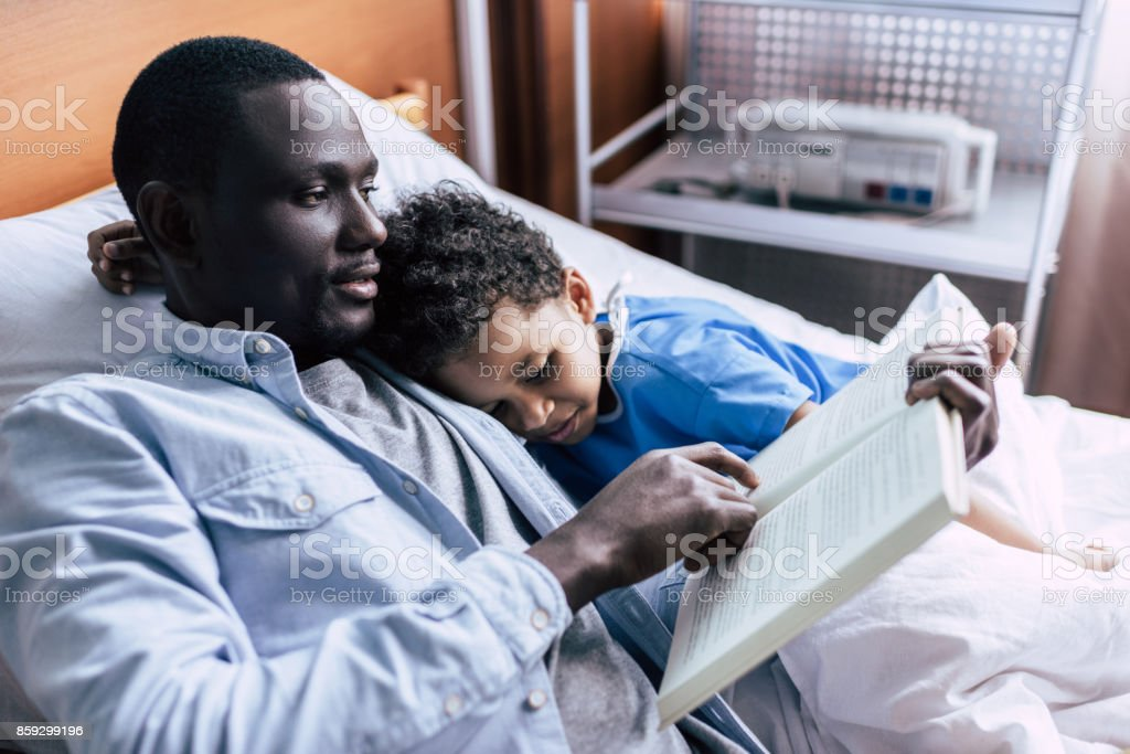 african american family in clinic stock photo