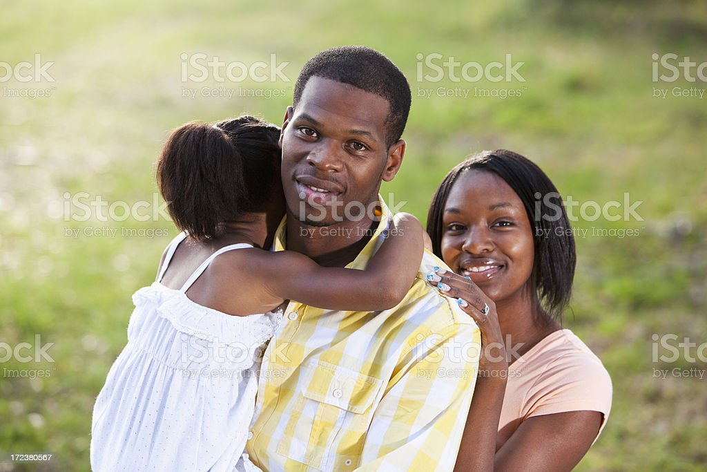 African American family with little girl royalty-free stock photo