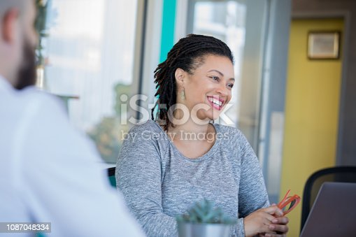 681735120istockphoto African American female entrepreneur leading discussion during meeting 1087048334