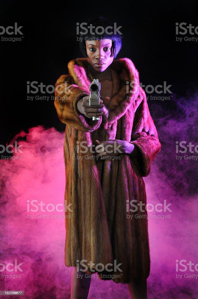 Femme De Gangster American Droit African Libre Photo cK1JlF
