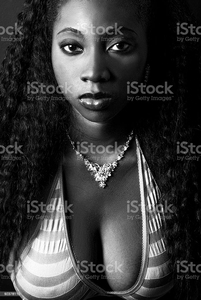 African American Female Portrait royalty-free stock photo