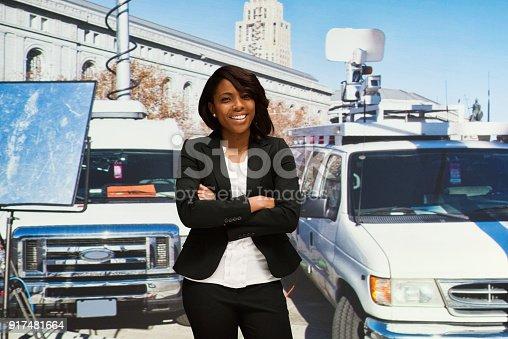 istock African American female reporter 917481664
