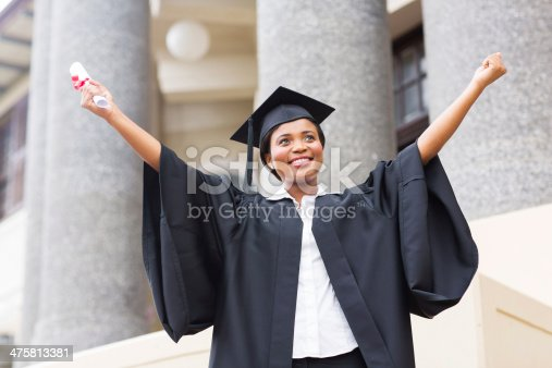istock african american female student with diploma 475813381