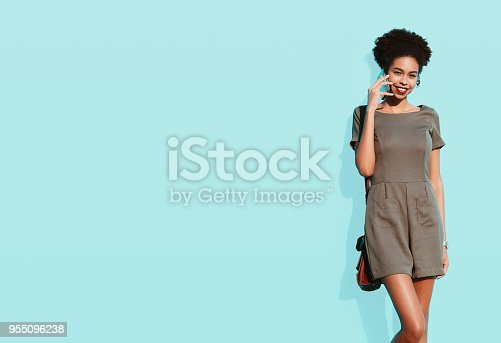 640046924 istock photo African American female talking on the phone, with copy space 955096238