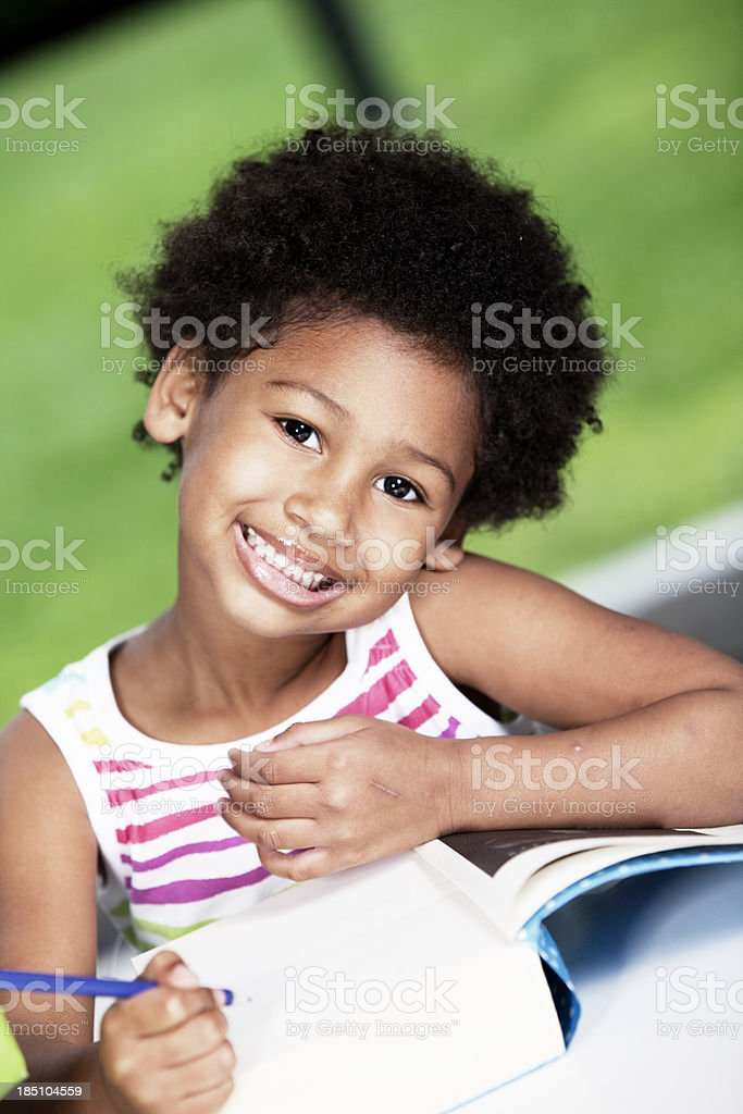 African American Girl Learning royalty-free stock photo