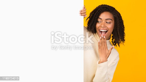 1159989540 istock photo African american girl looking over blank space 1193724013