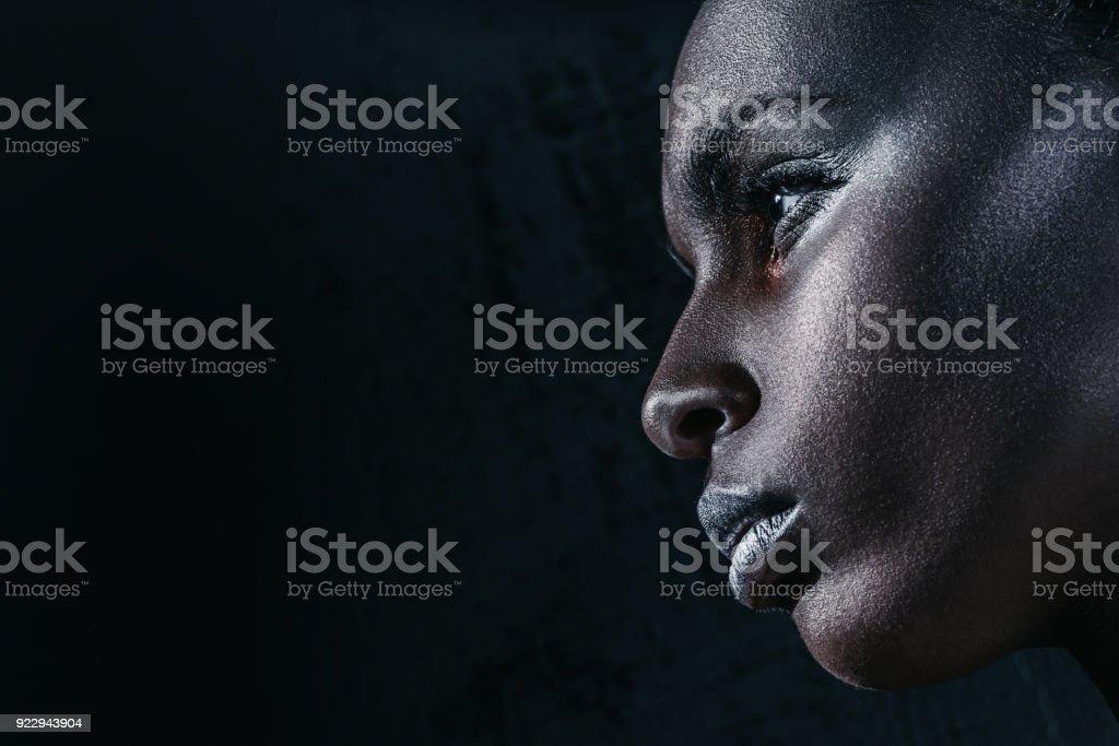 african american girl stock photo