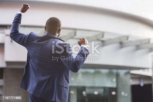 istock African american job seeker celebrating successful interview 1167721960