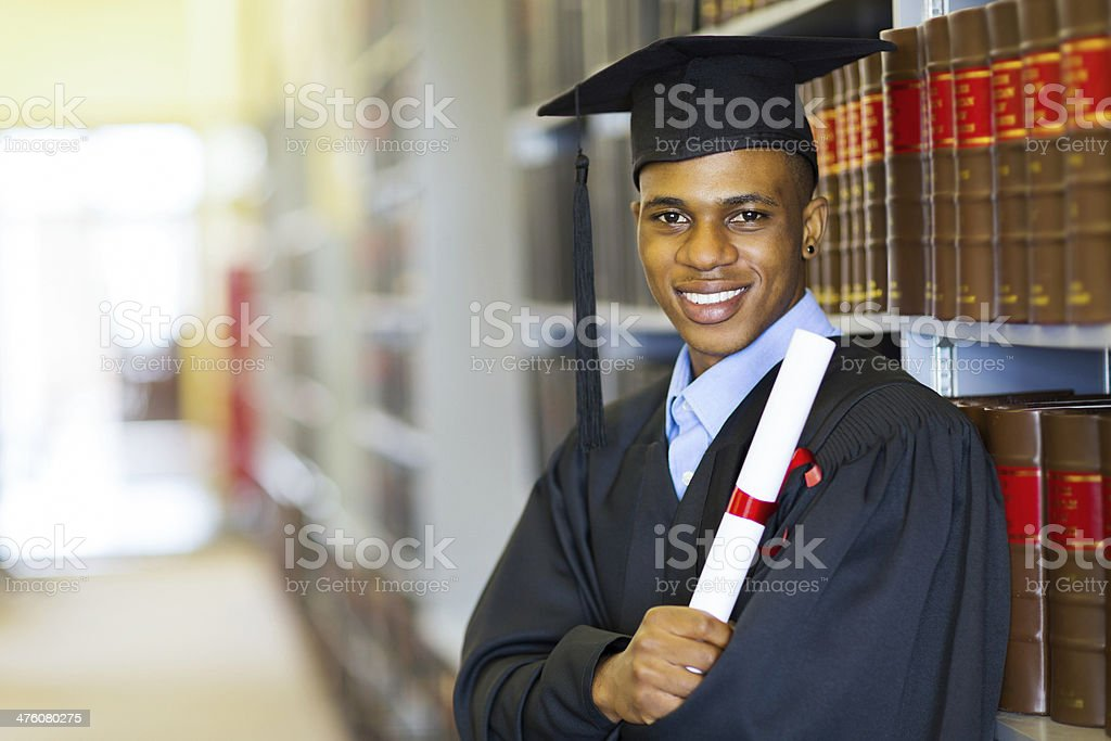 african american law school graduate stock photo