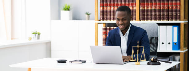 African American Lawyer Or Judge. Legal stock photo