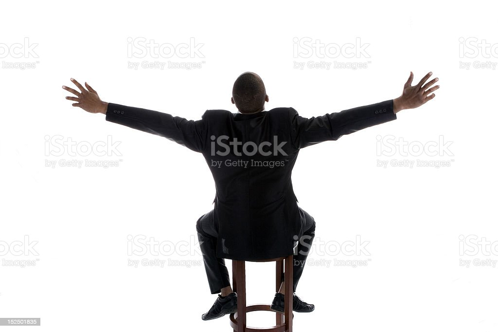 African American Male in Business suit royalty-free stock photo