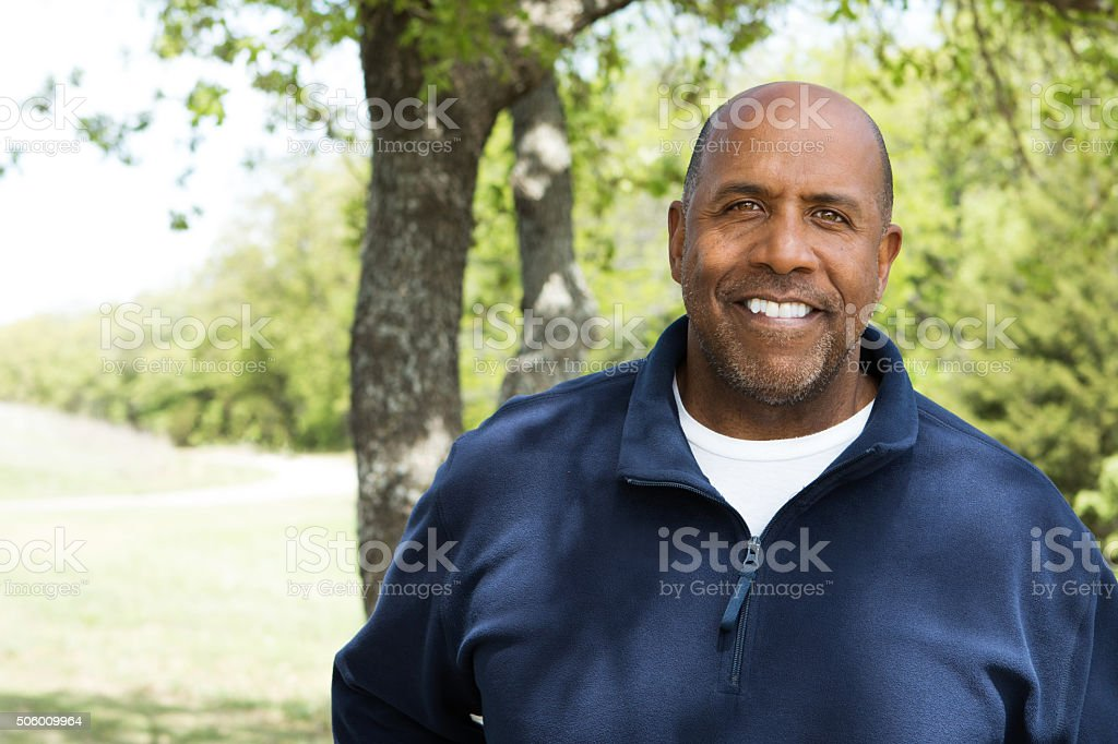 African American Man Exercising stock photo