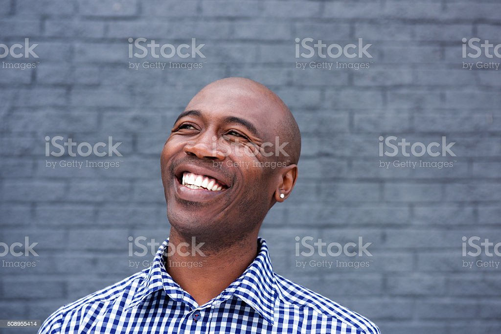 African american man laughing stock photo