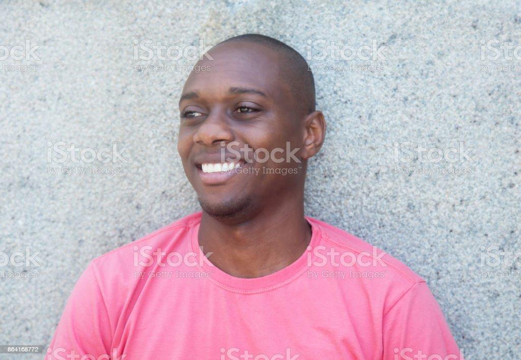 African american man looking sideways royalty-free stock photo